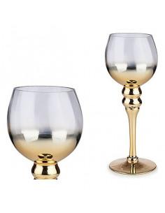 Portavelas Cristal Oro (Ø...